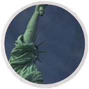 Round Beach Towel featuring the photograph New York by Travel Pics