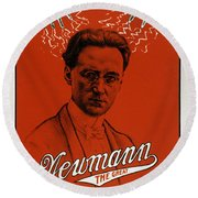 Newmann The Great - Vintage Magic Round Beach Towel by War Is Hell Store