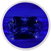 Night Watcher Round Beach Towel by Mark Andrew Thomas