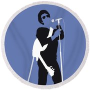 No068 My Lou Reed Minimal Music Poster Round Beach Towel by Chungkong Art