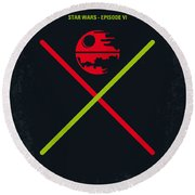 No156 My Star Wars Episode Vi Return Of The Jedi Minimal Movie Poster Round Beach Towel by Chungkong Art