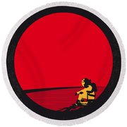 No620 My The Martian Minimal Movie Poster Round Beach Towel by Chungkong Art