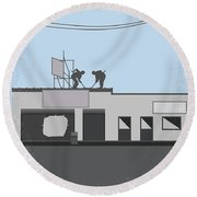 No715 My Clerks Minimal Movie Poster Round Beach Towel by Chungkong Art