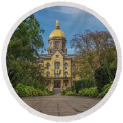 Notre Dame University Q Round Beach Towel by David Haskett