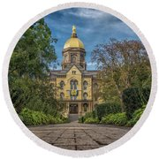Notre Dame University Q1 Round Beach Towel by David Haskett