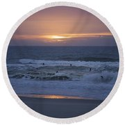 Office View Round Beach Towel by Betsy Knapp