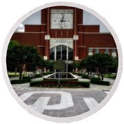Oklahoma Memorial Stadium Round Beach Towel by Center For Teaching Excellence