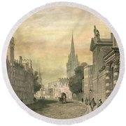 Oxford Round Beach Towel by G Hollis