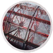 Paddle Wheel No. 7-1 Round Beach Towel by Sandy Taylor