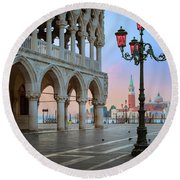 Palazzo Ducale Round Beach Towel by Inge Johnsson