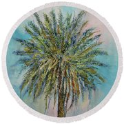 Palm Round Beach Towel by Michael Creese