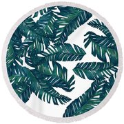 Palm Tree 7 Round Beach Towel by Mark Ashkenazi
