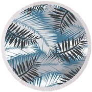 Palm Trees 10 Round Beach Towel by Mark Ashkenazi
