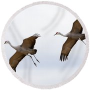 Pattern Of Two Round Beach Towel by Mike Dawson