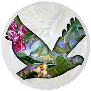Peace For Peace Round Beach Towel by Mindy Newman