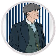 Peaky Blinders Round Beach Towel by Nicole Wilson