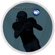 Penn State Football Round Beach Towel by David Dehner