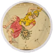 Perseus And Caput Medusae Round Beach Towel by Science Source
