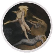 Perseus Slaying The Medusa Round Beach Towel by Henry Fuseli