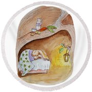 Peter Rabbit  Round Beach Towel by Irina Sztukowski
