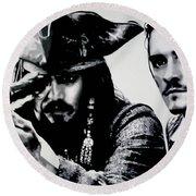 Pirates Of The Carribean Round Beach Towel by Luis Ludzska