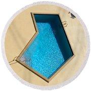 Pool Modern Round Beach Towel by Laura Fasulo