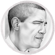 President Obama Round Beach Towel by Greg Joens