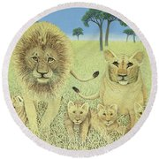 Pride Round Beach Towel by Pat Scott