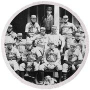 Princeton Baseball Team Round Beach Towel by American School