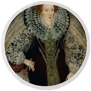 Queen Elizabeth I Round Beach Towel by John the Younger Bettes