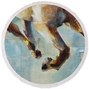 Ride Like You Stole It Round Beach Towel by Frances Marino
