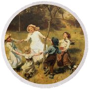 Ring Of Roses Round Beach Towel by Frederick Morgan