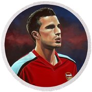 Robin Van Persie Round Beach Towel by Paul Meijering