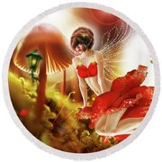 Rose  Round Beach Towel by Prar Kulasekara