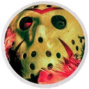 Scene From A Fright Night Slasher Flick Round Beach Towel by Jorgo Photography - Wall Art Gallery
