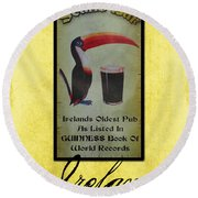 Seans Bar Guinness Pub Sign Athlone Ireland Round Beach Towel by Teresa Mucha