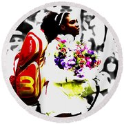 Serena Williams 2f Round Beach Towel by Brian Reaves