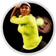 Serena Williams Bamm Round Beach Towel by Brian Reaves