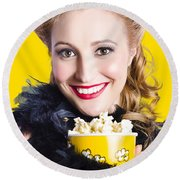 Showtime On Broadway Round Beach Towel by Jorgo Photography - Wall Art Gallery
