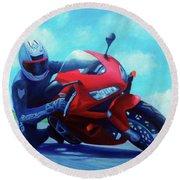 Sky Pilot - Honda Cbr600 Round Beach Towel by Brian  Commerford