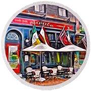 Slainte Irish Pub And Restaurant Round Beach Towel by Stephen Younts