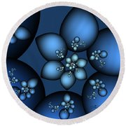 Something Blue Round Beach Towel by Jutta Maria Pusl