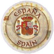 Spain Coat Of Arms Round Beach Towel by Debbie DeWitt