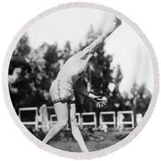 Stanford Field Star Hartranft Round Beach Towel by Underwood Archives