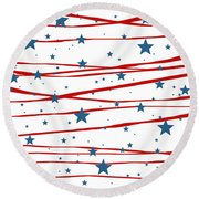 Stars And Stripes Round Beach Towel by Marianna Mills