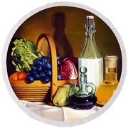 Still Life In Oil Round Beach Towel by Patrick Anthony Pierson