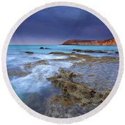 Storm Light Round Beach Towel by Mike  Dawson