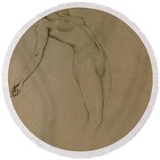 Study For Clyties Of The Mist Round Beach Towel by Herbert James Draper