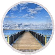 Summer Bliss Round Beach Towel by Tammy Wetzel