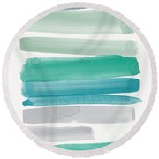 Summer Sky Round Beach Towel by Linda Woods